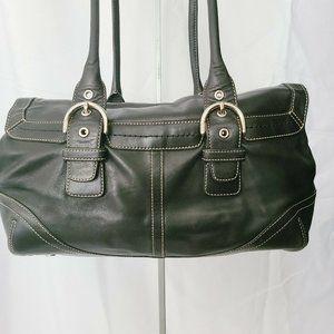 👜  COACH HAMPTON 9636 Soho BLACK Leather